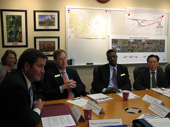 Congressman Garamendi at Transportation Meeting
