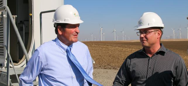 Garamendi Tours Shiloh Wind Farm feature image